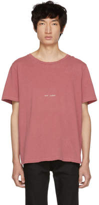 Saint Laurent Red Rive Gauche T-Shirt