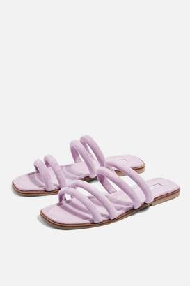 Flat tubular sandals