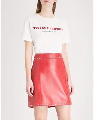Claudie Pierlot Tricot Français cotton-jersey T-shirt