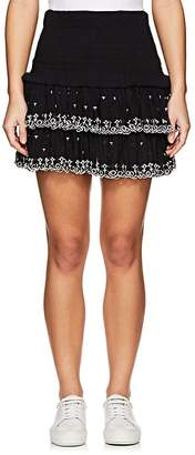 Etoile Isabel Marant Women's Naomi Smocked Cotton Miniskirt