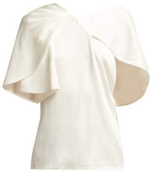 Peter Pilotto Asymmetric Satin Top - Womens - White