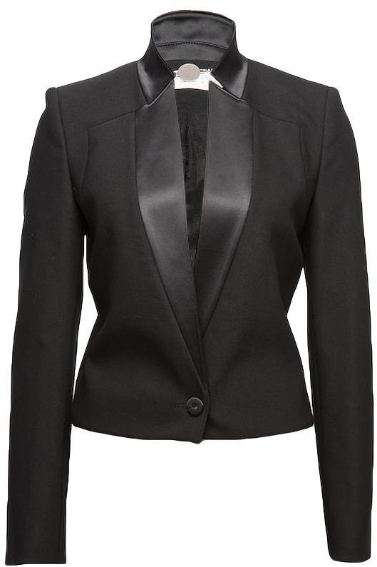 Cropped Tuxedo Jacket