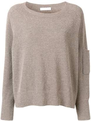Fabiana Filippi rhinestone insert knitted jumper