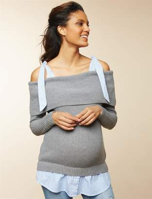 Motherhood Maternity Off The Shoulder Maternity Sweater Tunic