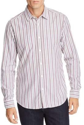 BOSS Reggie Striped Flannel Regular Fit Shirt