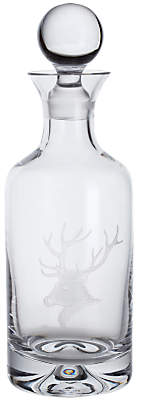 Dartington Crystal Sporting Life Stag Decanter, Clear