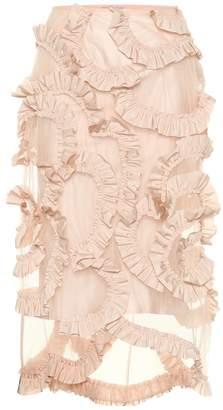 Simone Rocha Moncler Genius 4 MONCLER ruffled mesh skirt