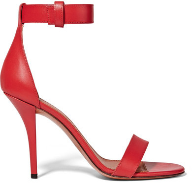 Givenchy - Retra Sandals In Red Leather