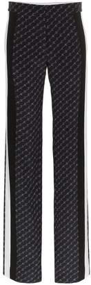 Stella McCartney logo print wide leg trousers