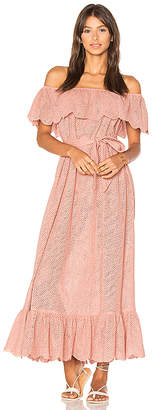 Marysia Swim Off Shoulder Dress in Pink $649 thestylecure.com