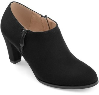 Co Brinley Women's Faux Suede Low-cut Comfort-sole Ankle Booties