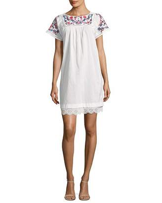 Rebecca Taylor Womens Garden Embroidered Shift Dress, 0