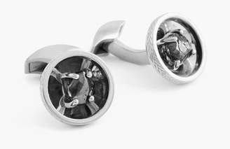 Tateossian Signature Diamond Bowl Silver Cufflinks (limited Edition