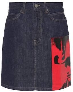 Calvin Klein Dennis Hopper denim skirt