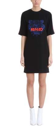Kenzo Tiger Black Crepe Dress
