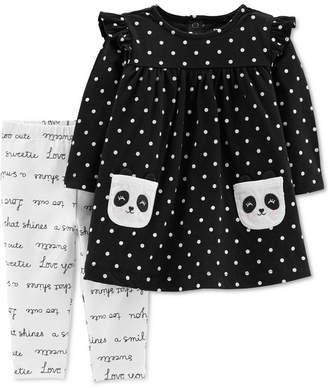 Carter's Baby Girls Panda Pocket Tunic & Printed Leggings Set