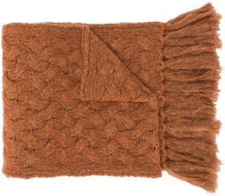 Lardini cable knit scarf