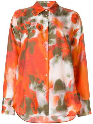 MSGM abstract print shirt