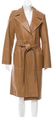 Yves Salomon Longline Leather Coat w/ Tags