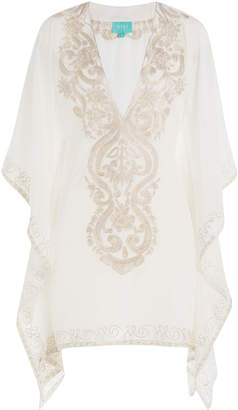 TAJ Embroidered Silk Tunic