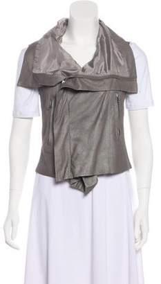 Rick Owens Asymmetrical Leather Vest