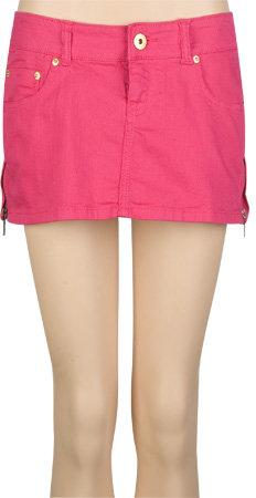 CELEBRITY PINK Side Zip Womens Denim Skirt