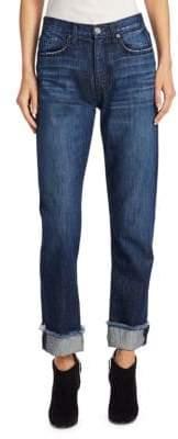 Joie Josie Straight-Leg Cuffed Jeans