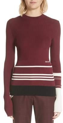 Calvin Klein Varsity Stripe Colorblock Sweater