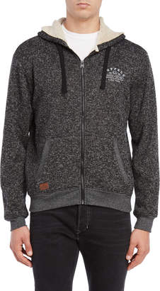 Buffalo David Bitton Zip Front Hooded Sweatshirt