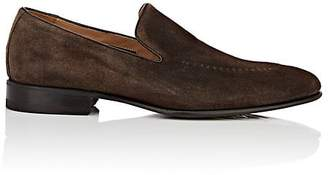 Harris Men's Stitch-Detailed Suede Venetian Loafers