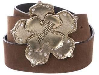 Just Cavalli Suede Embellished Belt