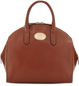 Roberto Cavalli Stampa Dollaro Leather Dome Tote Bag