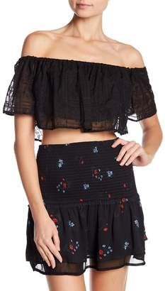 Endless Rose Off-The-Shoulder Lace Crop Top