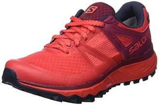 Salomon Women's Trailster GTX Trail Running Shoes (Hibiscus/Beet Red/Graphite), 39 1/3 EU