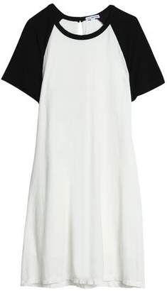 James Perse Two-Tone Cotton And Linen-Blend Jersey Mini Dress