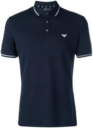 Emporio Armani contrast trim polo shirt