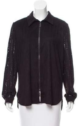 Alberto Makali Laser Cut Long-Sleeve Jacket w/ Tags