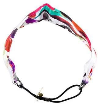 Colette Malouf Feather Print Satin Headband