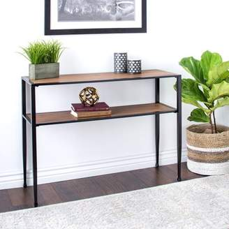 BNJ Rustic Sofa Table ,Modern,shuffle,transitional ,Metal and Wood Material with ...