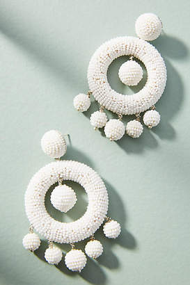 Suzanna Dai Beaded Chandelier Drop Earrings