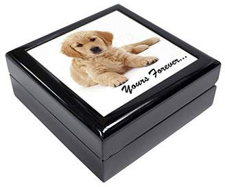 Golden Retriever 'Yours Forever' Keepsake/Jewellery Box Christmas Gift