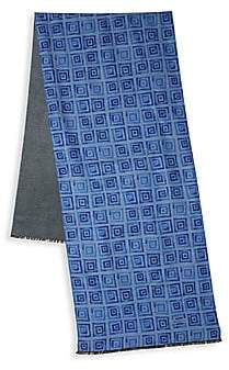 Kiton Men's Squares Silk Scarf