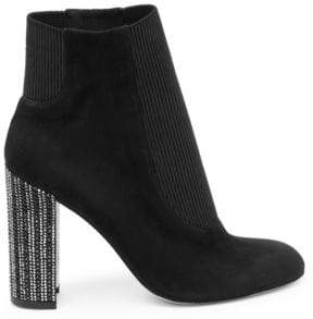 Rene Caovilla Strass Heel Ankle Boots