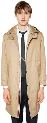 Thom Browne Cotton Parka Coat W/ Detachable Hood