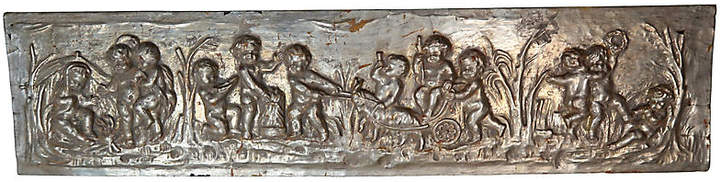 One Kings Lane Vintage 19th C. Silver Gilt Panel with Cherubs
