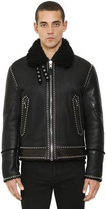 Givenchy Studded Leather Shearling Jacket