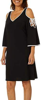 MSK Women's Cold Shoulder Dress with Piping