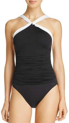 Ralph Lauren Beach High Neck One Piece Swimsuit