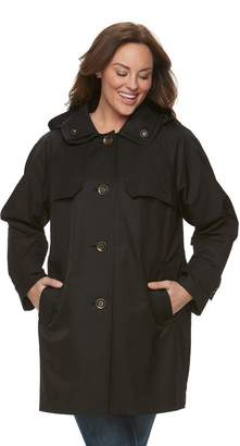 London Fog Towne By Plus Size Towne by Button-Down Jacket