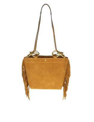 Tory Burch Shoulder Bag farrah Fringe Small Tote In Suede Leather Co